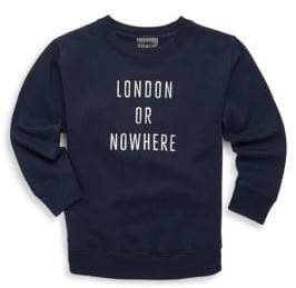 Knowlita Toddler's, Little Girl's& Girl's London Or Nowhere Sweatshirt