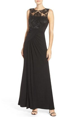 Women's Eliza J Draped Sleeveless Gown $188 thestylecure.com