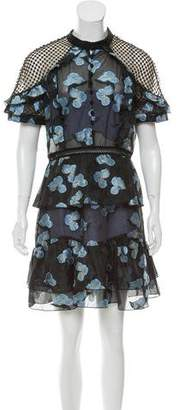 Self-Portrait Fil Coupe Embroidered Dress w/ Tags