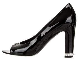 Chanel Patent Leather Pearl Pumps