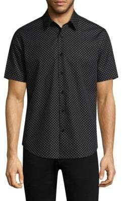Theory Clean Cross Wool Button-Down Shirt