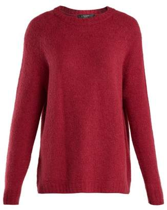 Max Mara Alpaca Blend Knitted Sweater - Womens - Burgundy