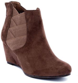 GC SHOES GC Shoes Womens Samira Wedge Heel Zip Bootie