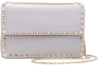 Valentino - The Rockstud Leather Shoulder Bag - Light gray $1,145 thestylecure.com