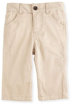 Andy & Evan Twill Straight-Leg Pants, Khaki, Size 2T-7Y