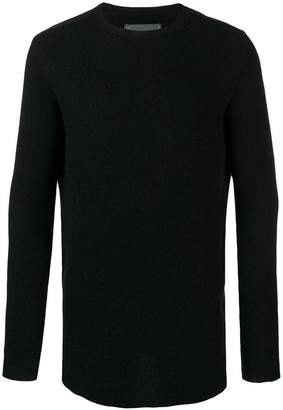 10Sei0otto crew neck curved hem sweater