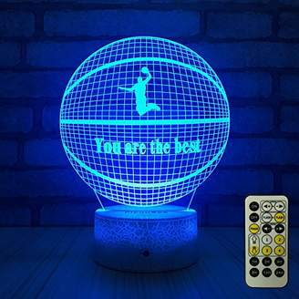 FlyonSea Beside 7 Colors Change + Remote Control with Timer Night Light Optical Illusion Lamp As a Gift Ideas for Boys or Kids