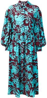 Valentino floral print shirt dress