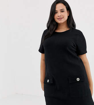 New Look Plus Curve tunic in black