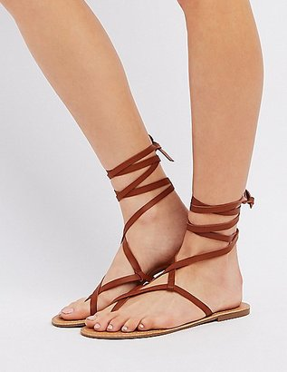 Lace-Up Toe Loop Sandals $12.99 thestylecure.com