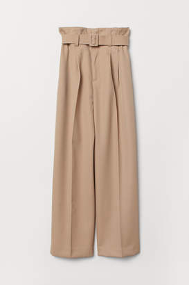 H&M Paper bag trousers - Beige