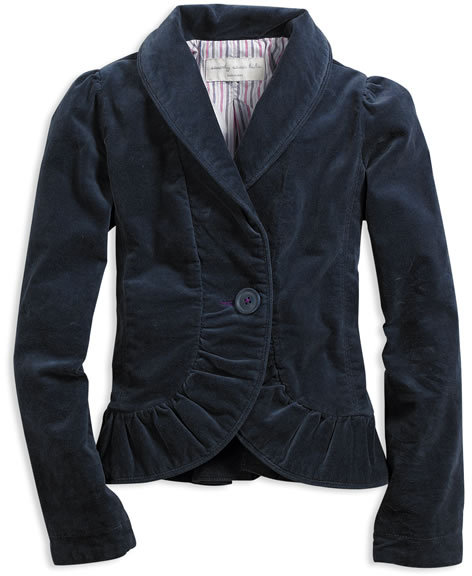 Party Ruffle Velvet Blazer