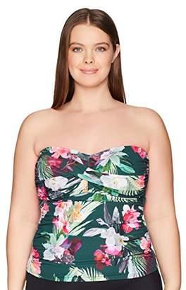 LaBlanca La Blanca Women's Plus Size Bandeau Tankini Swimsuit Top