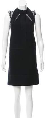 Pringle Silk-Accented Wool Dress