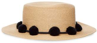 Pieces Womens Straw Hat - Brown