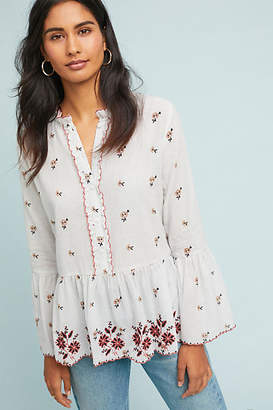 Velvet by Graham & Spencer Breanna Embroidered Peasant Top