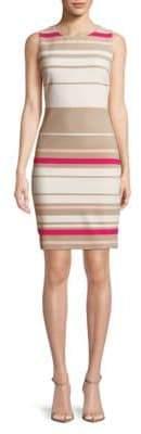 Calvin Klein Ottoman Stripe Sheath Dress