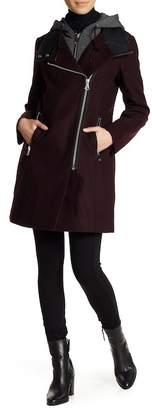 Andrew Marc Phoenix Hooded Front Zip Jacket