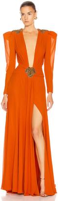 Dundas Embellished Dress in Orange | FWRD