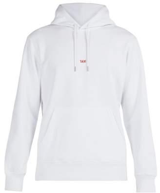 Helmut Lang Taxi Print Hooded Cotton Sweatshirt - Mens - White