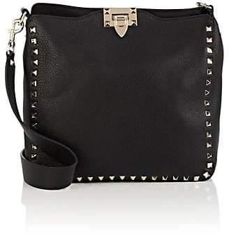 Valentino Women's Rockstud Small Leather Messenger Bag