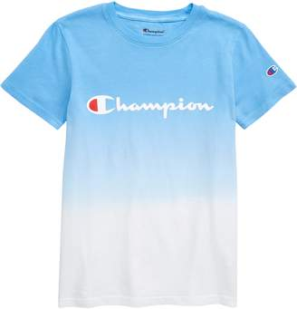 Champion Dip Dye Logo Graphic T-Shirt