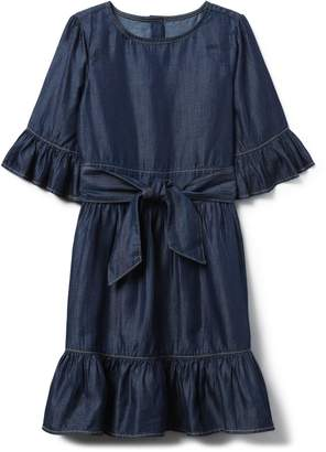 Crazy 8 Crazy8 Chambray Ruffle Dress