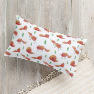 Foxes and spruces Lumbar Pillow