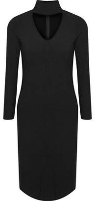 LnA Letta Cutout Ribbed-Knit Dress