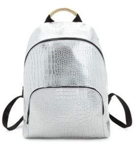 KENDALL + KYLIE Elie Embossed Metallic Backpack