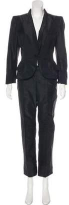Alexander McQueen Silk & Wool Pant Suit
