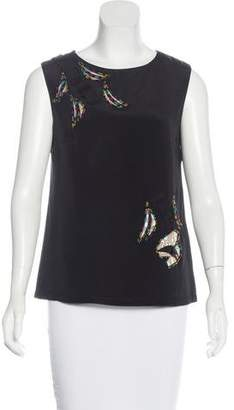 Mayle Embellished Silk Top