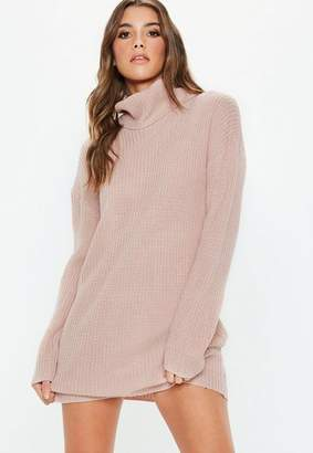 Missguided Petite Pink Basic Turtle Neck Chunky Sweater