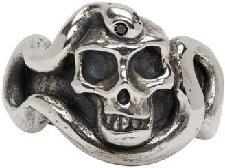 Black Diamond Luka Sabbat x Monini Silver and Skull Serpent Ring