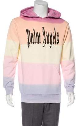 Palm Angels 2018 Gothic Rainbow Pullover Hoodie