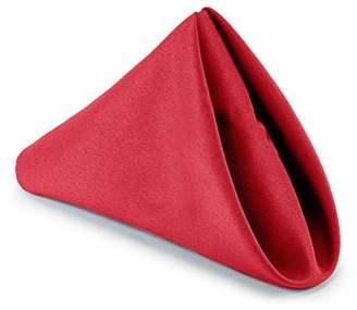 """Hunter Lann's Linens - 1 Dozen 20"""" Cloth Dinner Table Napkins - Red Fabric"""