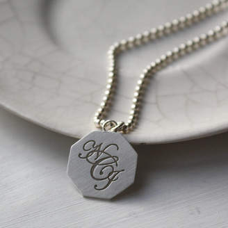 Nicola Crawford Silver Monogram Necklace
