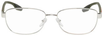 Prada Silver and Green Lifestyle Glasses