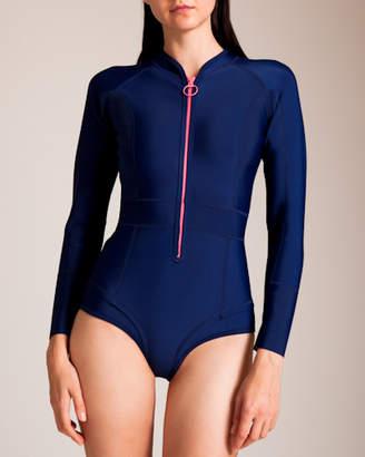Duskii Swimwear Gisele Blueberry Long Sleeve Swimsuit