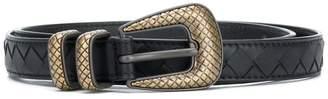 Bottega Veneta nero Intrecciato nappa belt