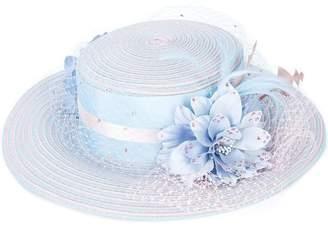 Gigi Burris Millinery floral embellished hat