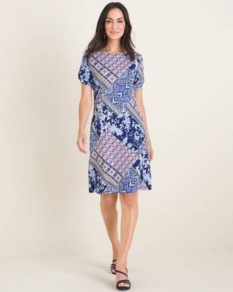 Chico's Chicos Printed Twist-Sleeve Dress