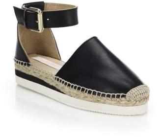 See by Chloe Glyn Suede Ankle-Strap Platform Espadrilles