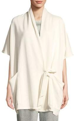 Eileen Fisher Side-Tie Kimono Wrap Jacket, Plus Size