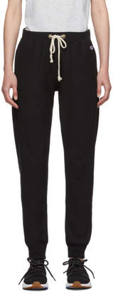 Champion Reverse Weave Black Elastic Cuff Lounge Pants