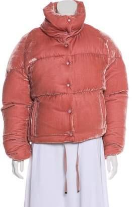 Moncler Velvet Quilted Jacket