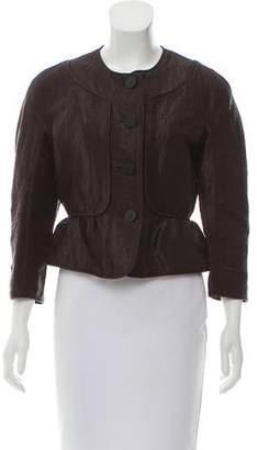 Burberry Linen-Blend Woven Jacket