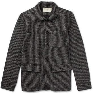 Oliver Spencer Cowboy Slim-Fit Mélange Houndstooth Wool Jacket