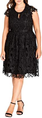 City Chic Akiko Lace Dress