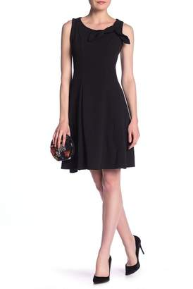 Robbie Bee Bow Accented Cocktail Dress